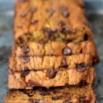 Healthy Pumpkin Zucchini Chocolate Chip Bread + big news!
