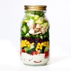 chicken salad in a mason jar