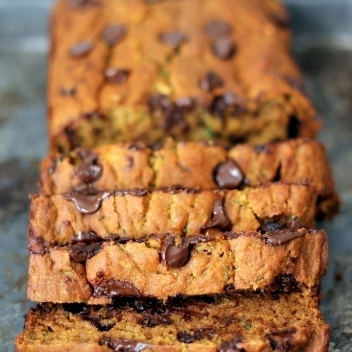 Healthy Pumpkin Zucchini Chocolate Chip Bread Ambitious Kitchen