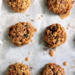 Chewy Carrot Cake Oatmeal Cookies (made with coconut oil + dairy free!)