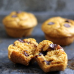 Whole Wheat Pumpkin Chocolate Chip Muffins (made with greek yogurt!)