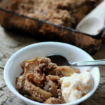 Maple-Pecan Apple Crisp (with bourbon if you'd like!)