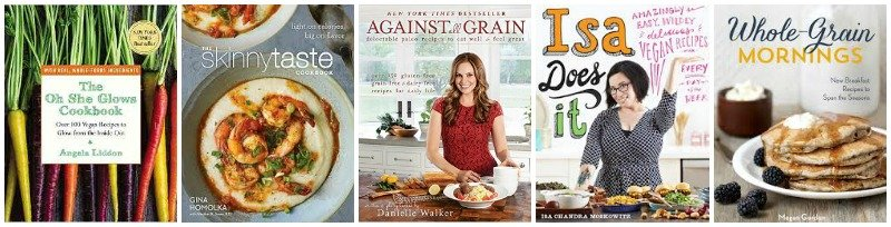 Collage of healthy cookbook covers