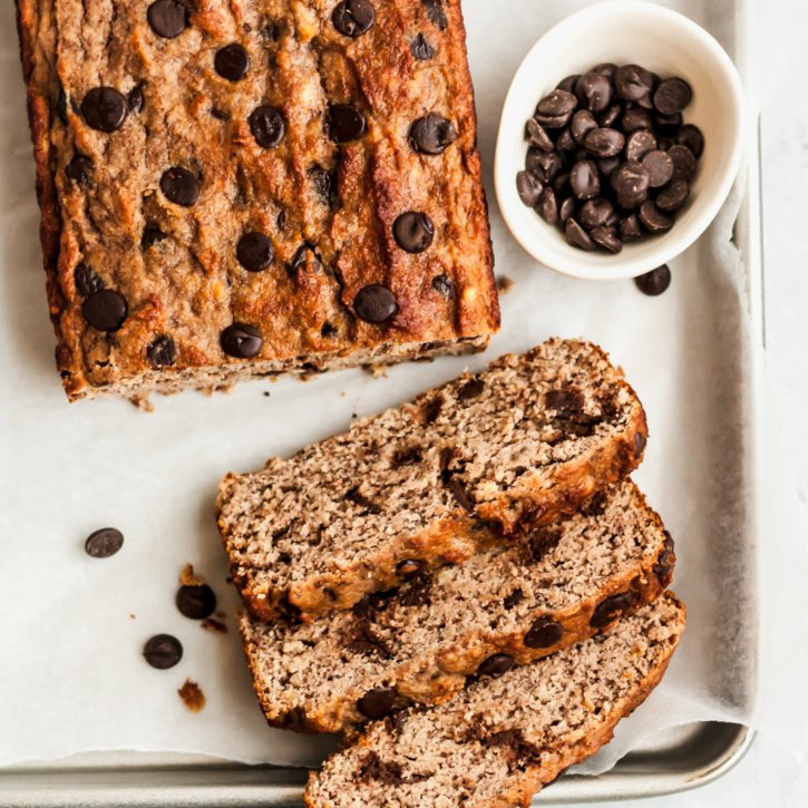 Paleo Chocolate Chip Coconut Flour Banana Bread