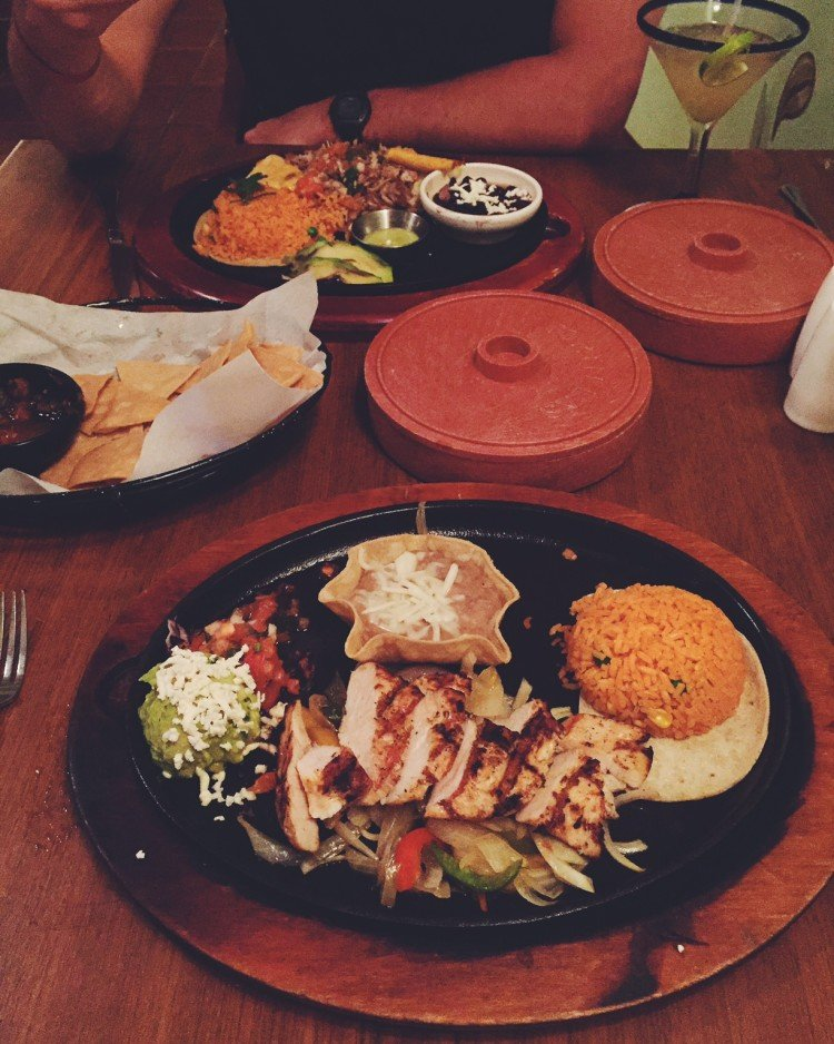 Plate of Mexican food