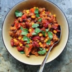 Two-Bean and Corn Chipotle Turkey Chili (healthy!)
