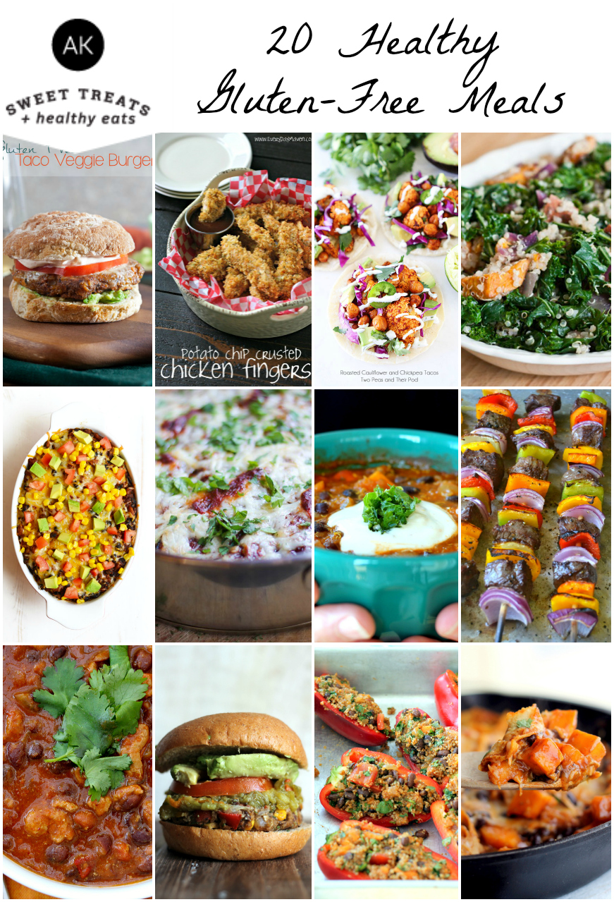 20 Delicious Healthy Gluten Free Meals to try! These are all SO yummy!