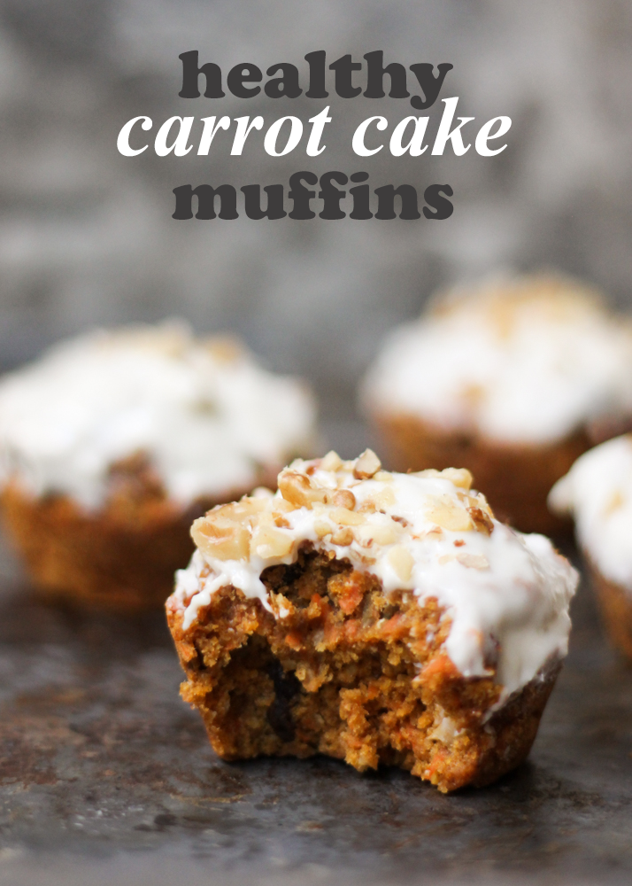 Healthy Carrot Cake Muffins packed with good for you ingredients! No butter and under 200 calories!