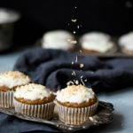 Healthy Carrot Cake Muffins with Cream Cheese Glaze