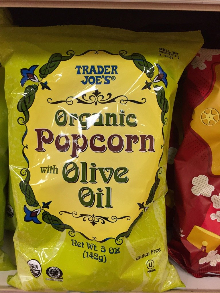 bag of olive oil popcorn