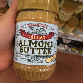 jar of almond butter