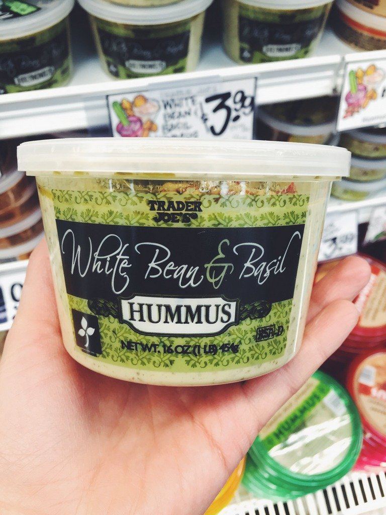 container of hummus