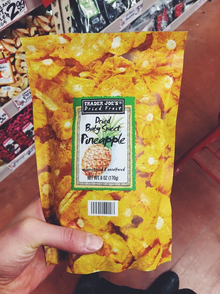 bag of dried pineapple
