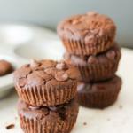 Gluten Free Flourless Black Bean Brownie Muffins