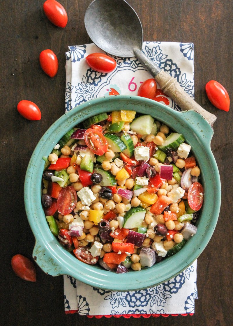 Mediterranean garbanzo bean salad recipes
