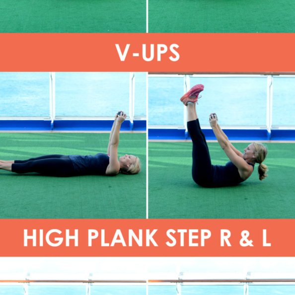 15 minute ab workout collage