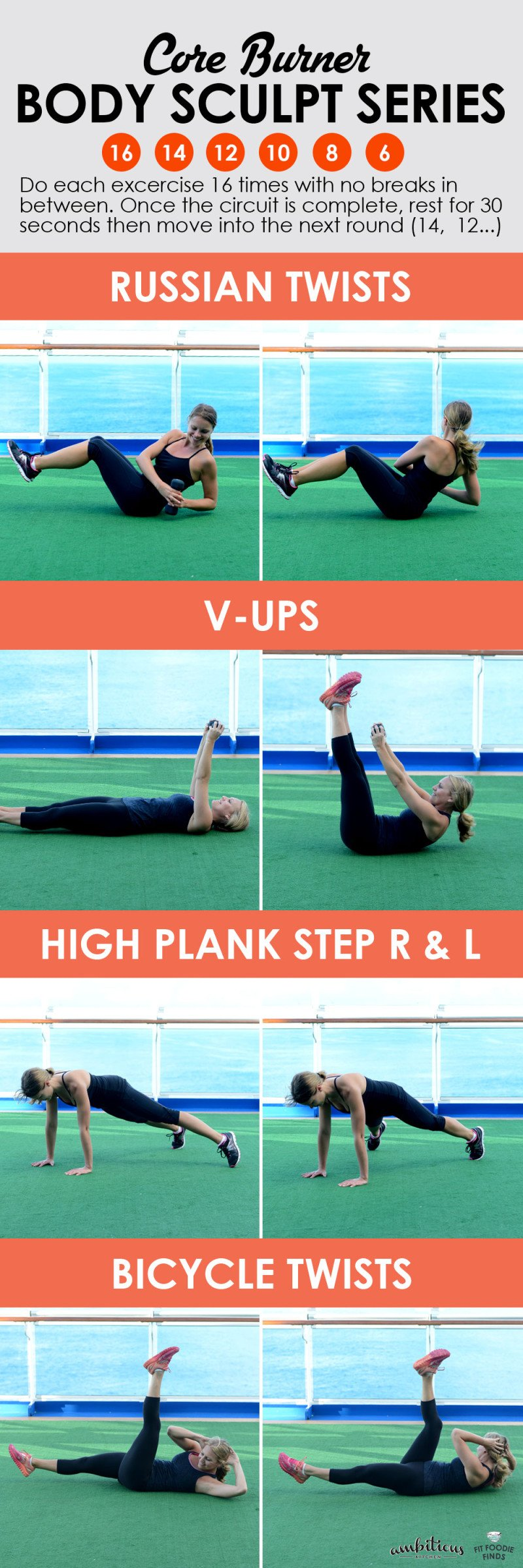 This 15 minute ab workout collage