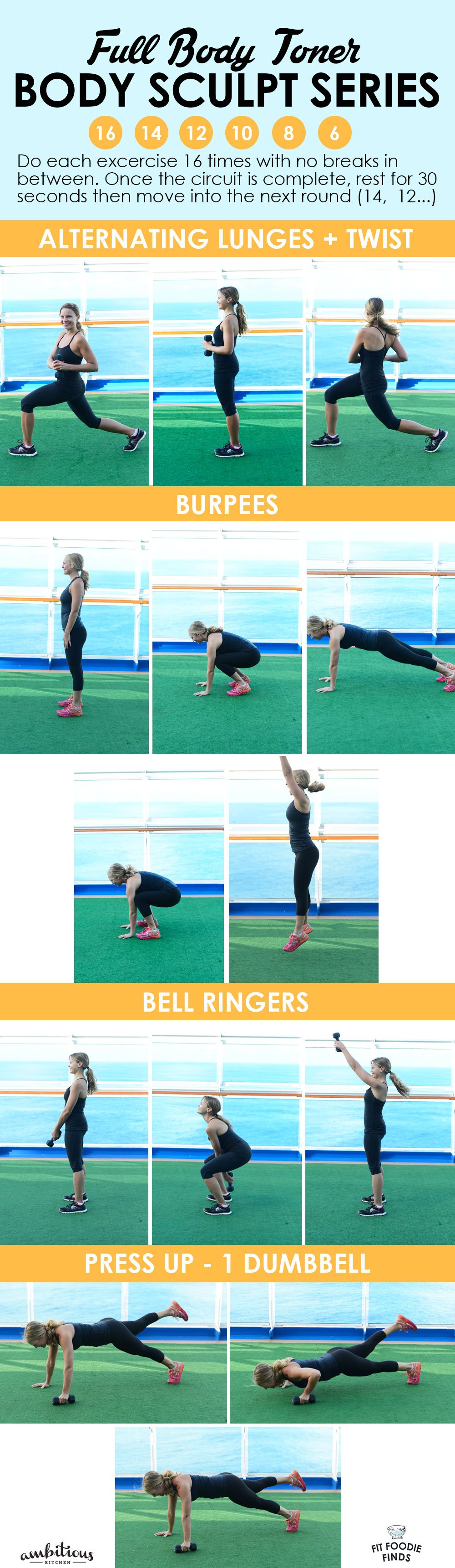 30 Minute Full Body Toner Workout collage