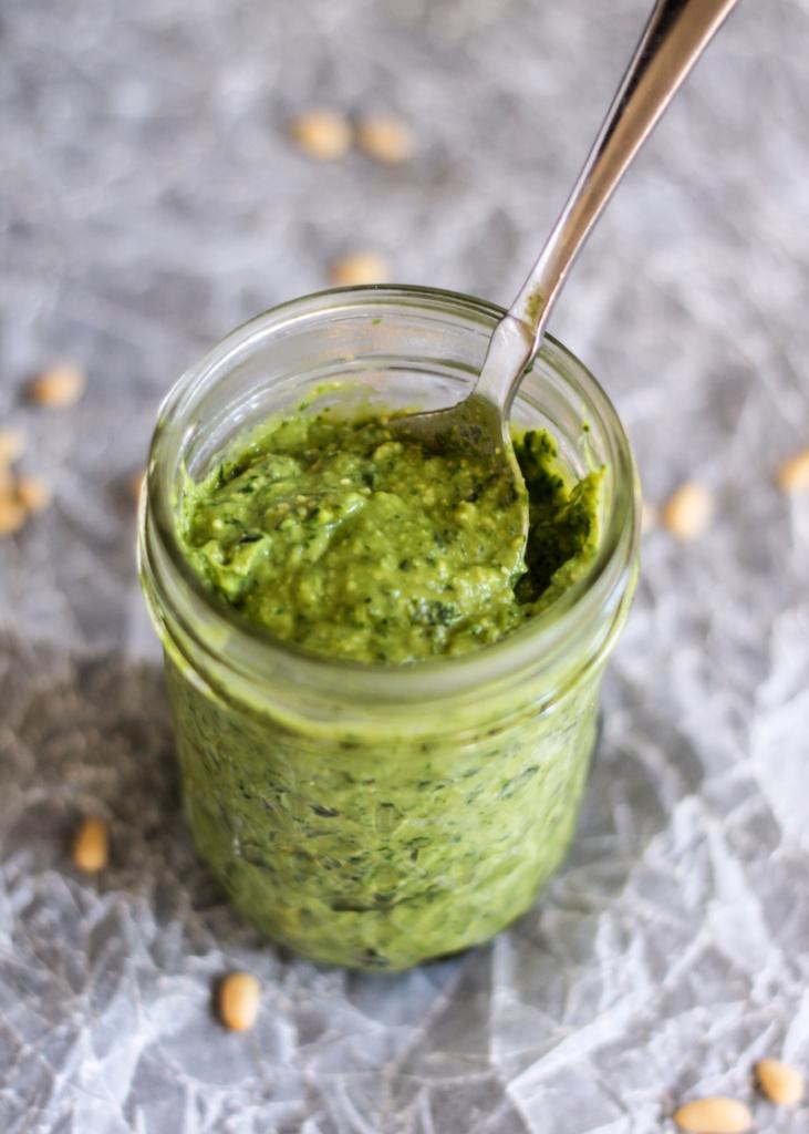 to Make Lightened-Up Pesto: A Recipe for Creamy Avocado Basil Pesto ...