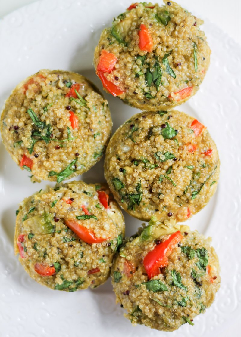 quinoa frittatas on a plate