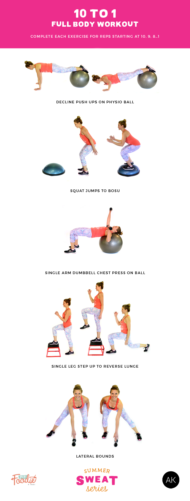 Full body workout collage