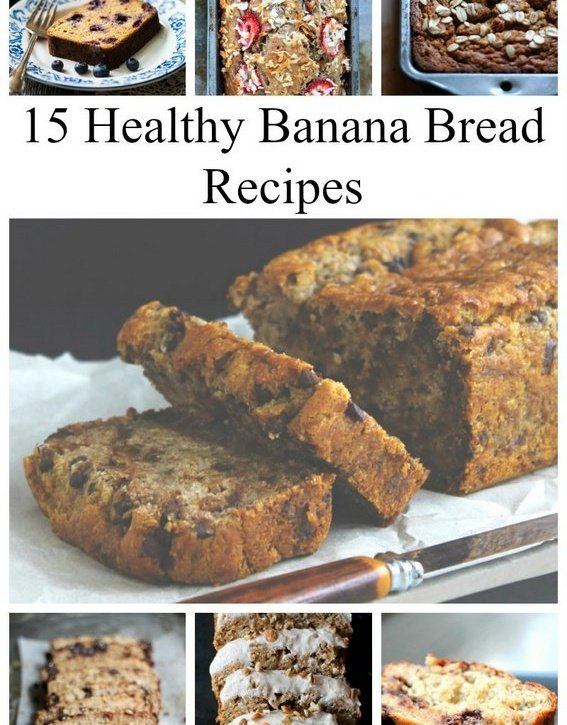 15 Healthy Banana Bread Recipes featuring gluten free, paleo and vegan options. All of these look SOOOOO good!