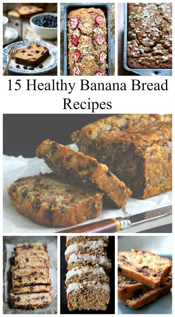 15 Healthy Banana Bread Recipes collage