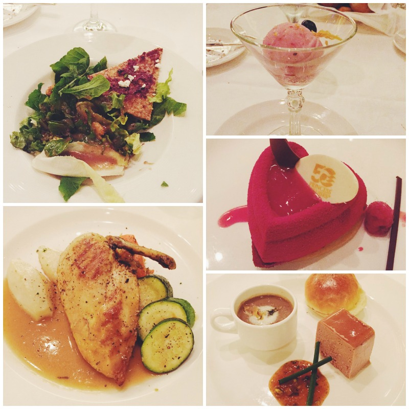 collage of meals and desserts