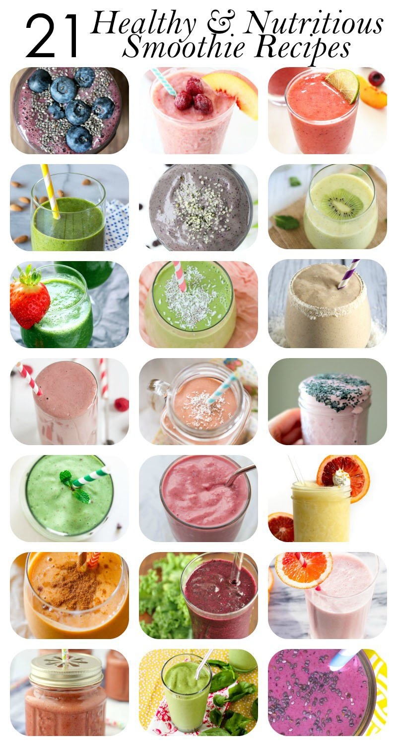 21 Healthy Smoothie Recipes For Breakfast Energy And More throughout Healthy Smoothie Recipes