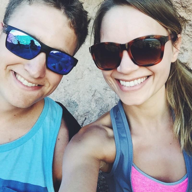 monique and tony hiking