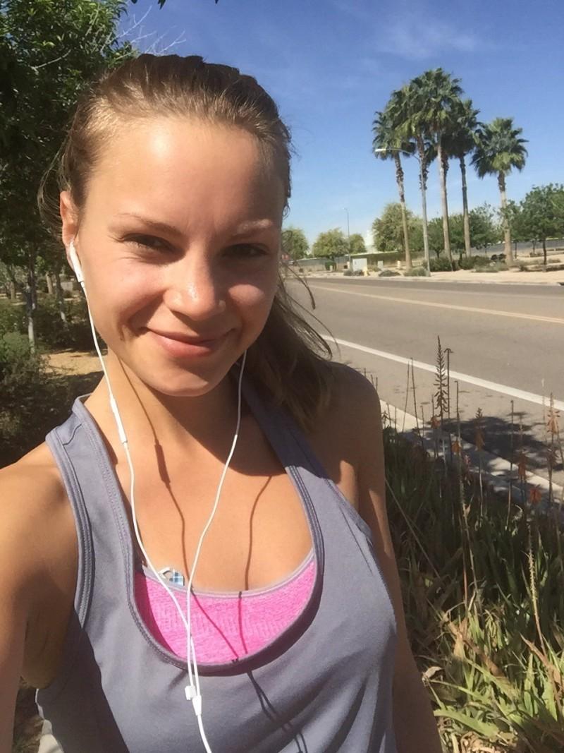 monique on a run