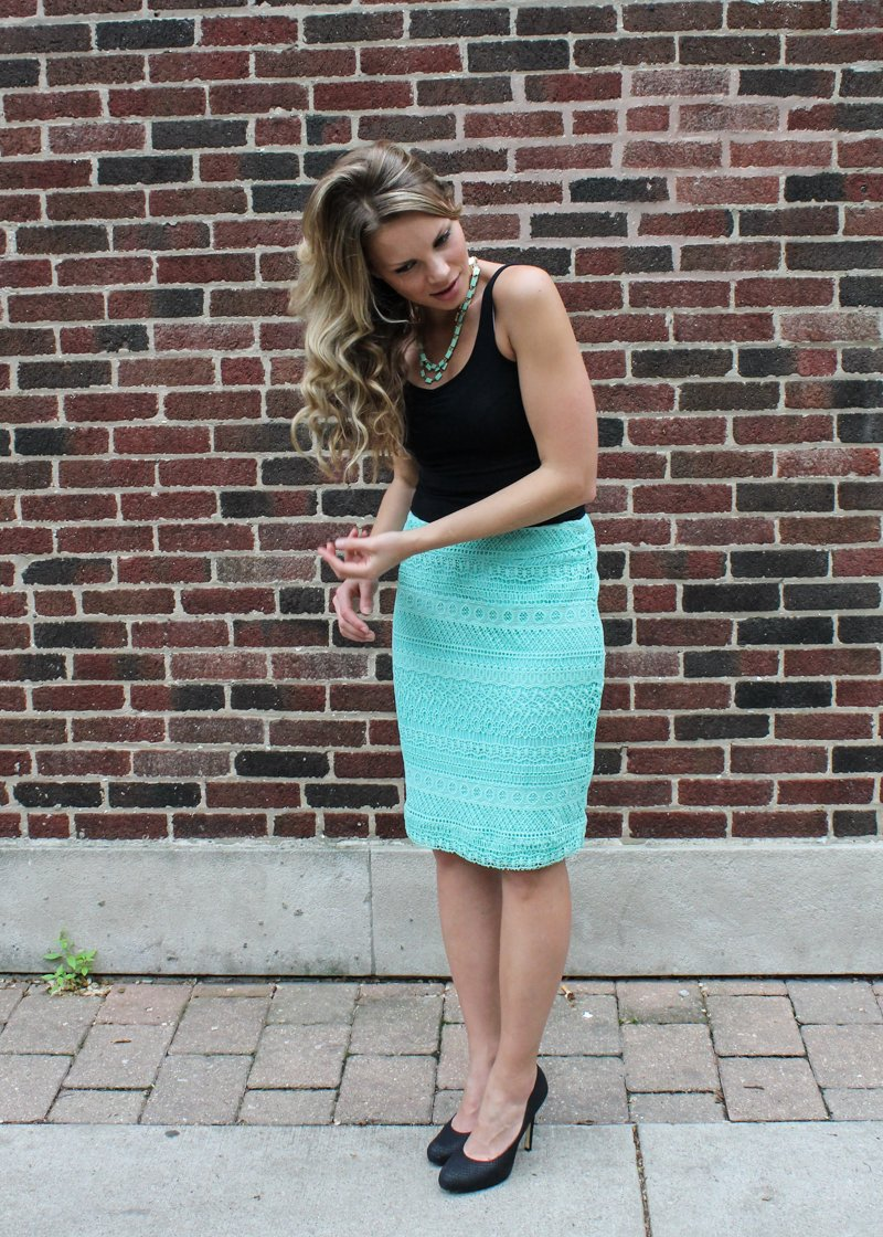 Emily Crochet Pencil Skirt by Pixley | Ambitious Kitchen Stitch Fix Review