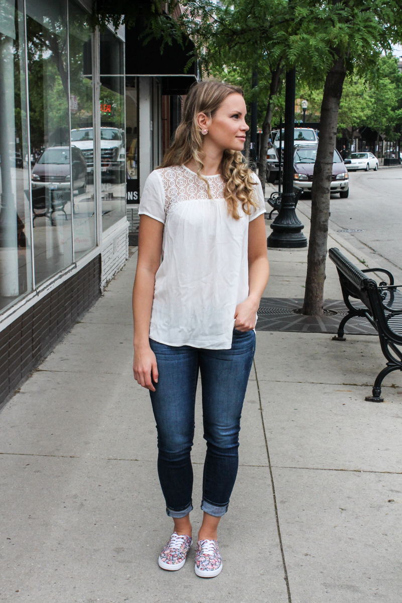 Cibrian Lace Detail Top from Kut From the Kloth | Ambitious Kitchen Stitch Fix Review