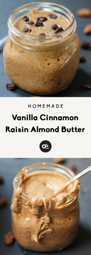 Cinnamon raisin almond butter collage