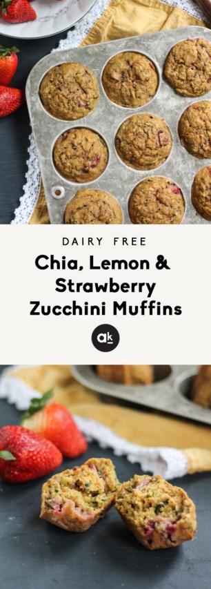 Strawberry zucchini muffins