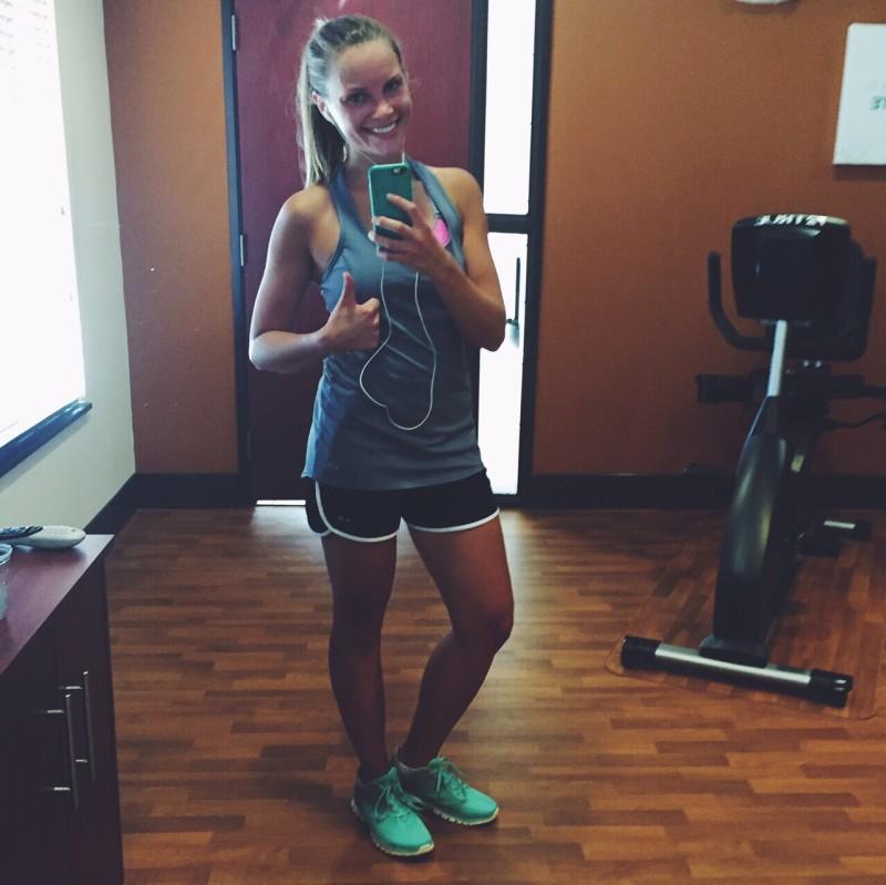 monique at the gym
