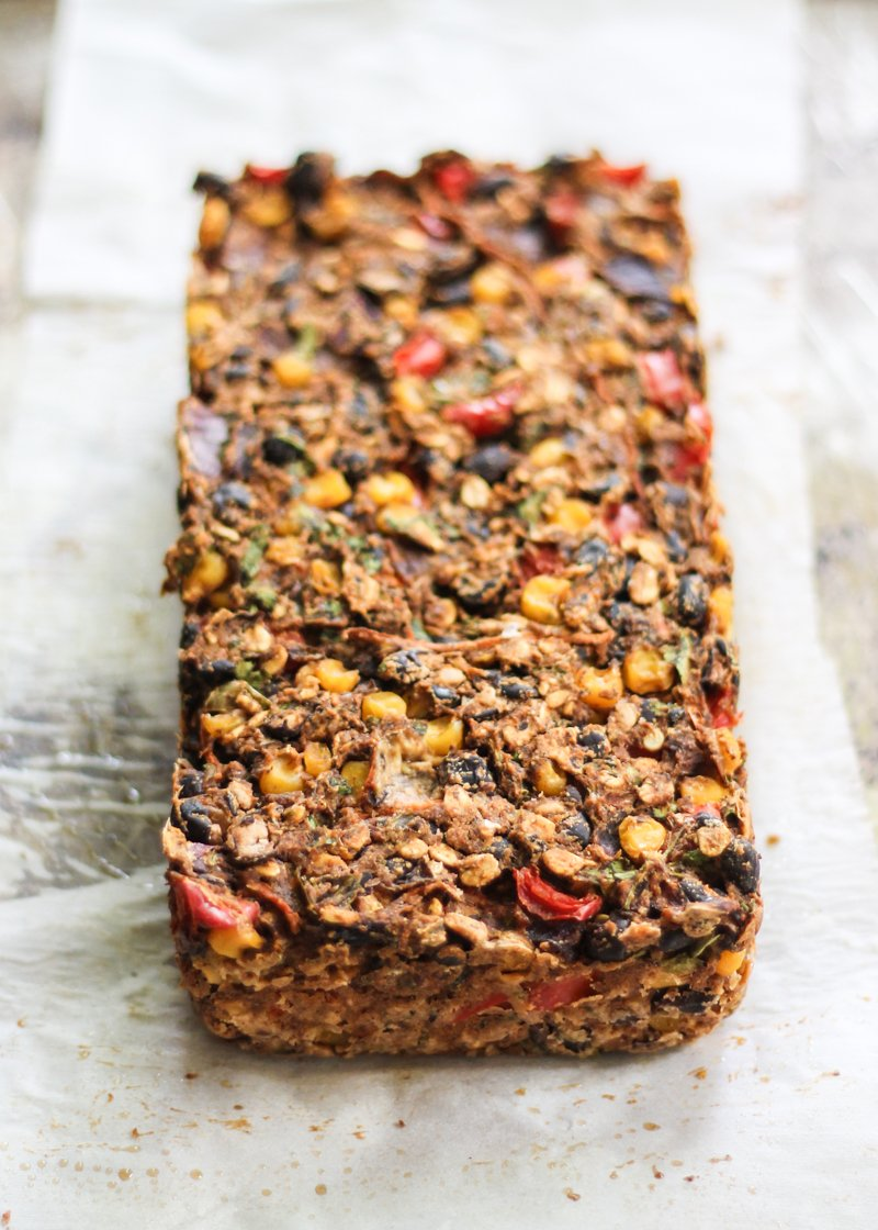 meatless black bean loaf