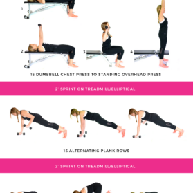 core and cardio workout graphic