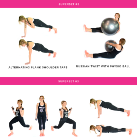 long and lean full body tabata workout graphic