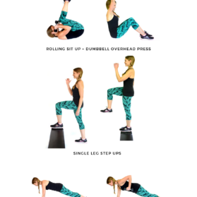 10 to 1 Lower Body + Abs graphic