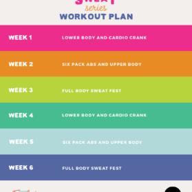 six week workout plan graphic