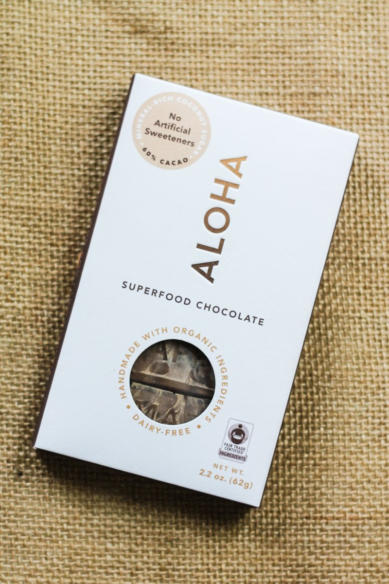 package of Aloha chocolate