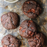 Flourless Double Chocolate Hazelnut Cookies with Sea Salt {grain free, gluten free, paleo}