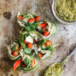 Low Carb Pesto & Turkey Cucumber Roll Ups