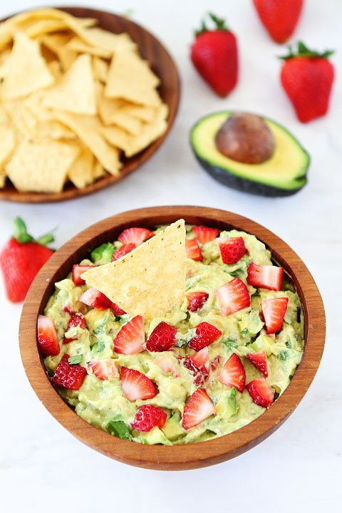 Strawberry Goat Cheese Guac