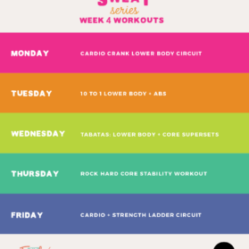 Workout Plan Week 4 of #SummerSWEATseries