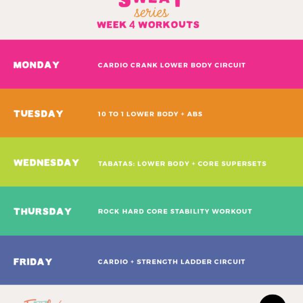 Workout Plan Week 4 of #SummerSWEATseries