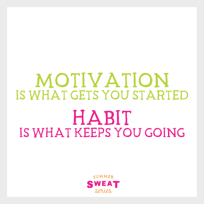 Motivation to get to the gym! Soon it will become a habit. #strong #summerSWEATseries