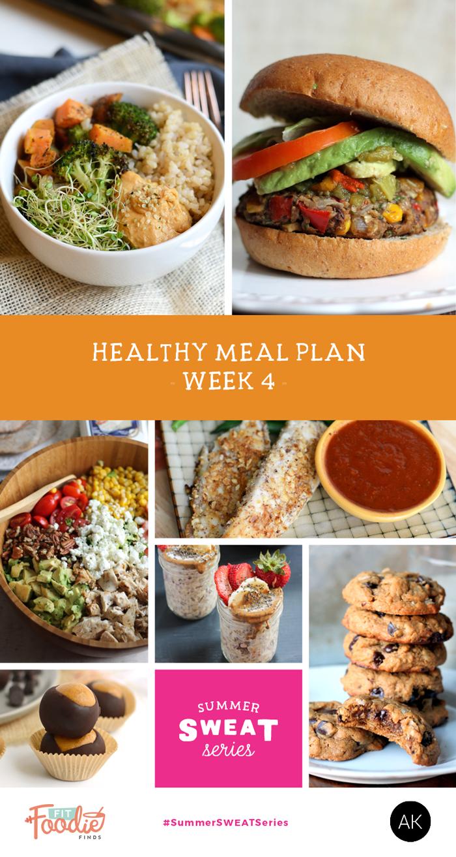 A delicious healthy clean eating meal plan: Week 4 of the #summerSWEATseries! LOVE! #cleaneating #mealplan