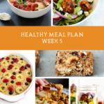 Summer SWEAT Series: Week 5 Meal Plan + Grocery List